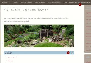 Hortus-Netzwerk jetzt mit Glossar