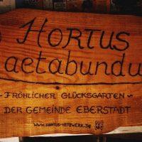 Gartenschild Laetabundus