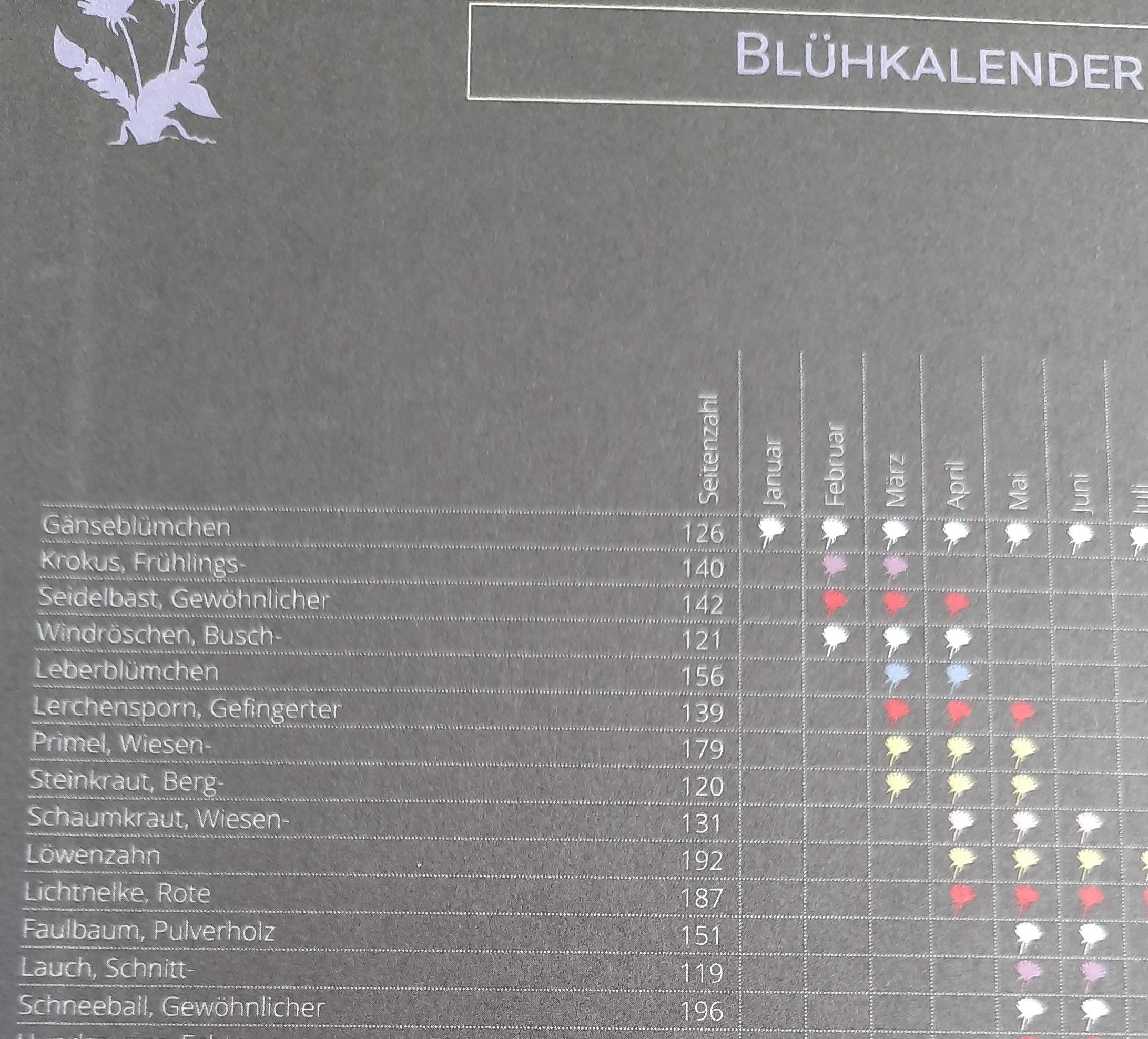 Blühkalender